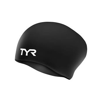 TYR LONG HAIR SILICONE SWIMMING CAPS