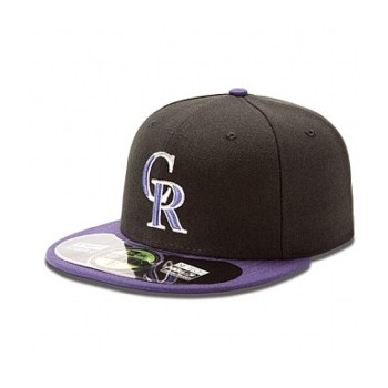 AUTHENTIC COLORADO ROCKETS ON FIELD GAME 59FIFTY